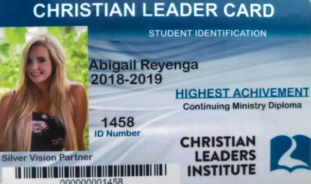 Christian Leader Card Free Higher Education Courses